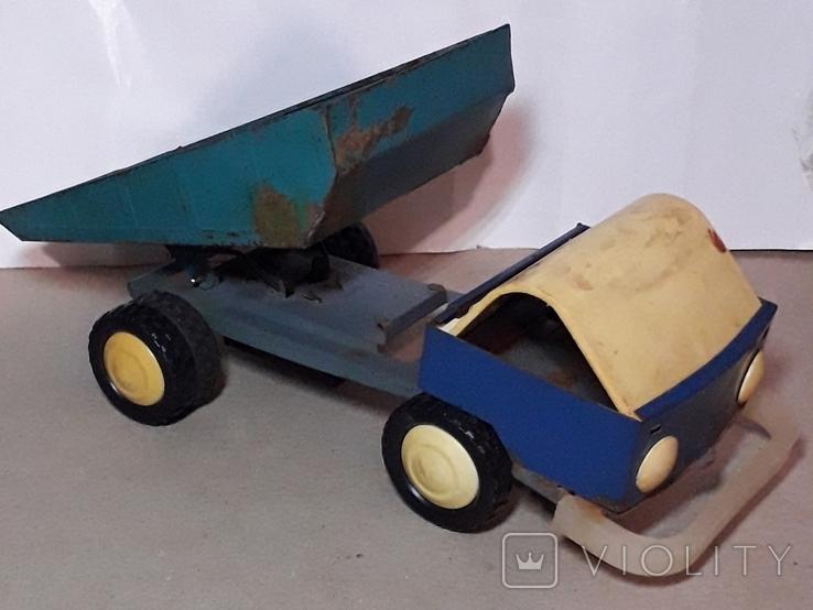 Грузовая машинка КИЕВ з-д СССР ,клеймо,длина 28 см., фото №3