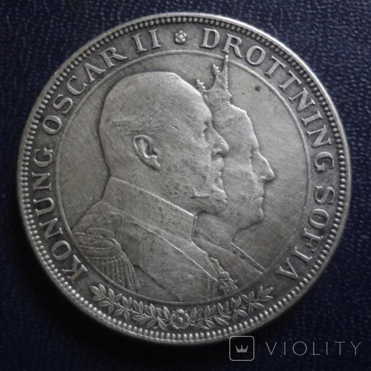 2 кроны 1907 Швеция серебро (1.2.34), фото №2