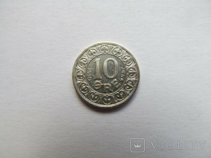 Дания 10 орэ 1910 год, фото №3
