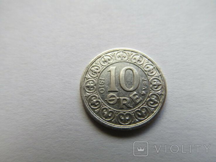 Дания 10 орэ 1910 год, фото №5