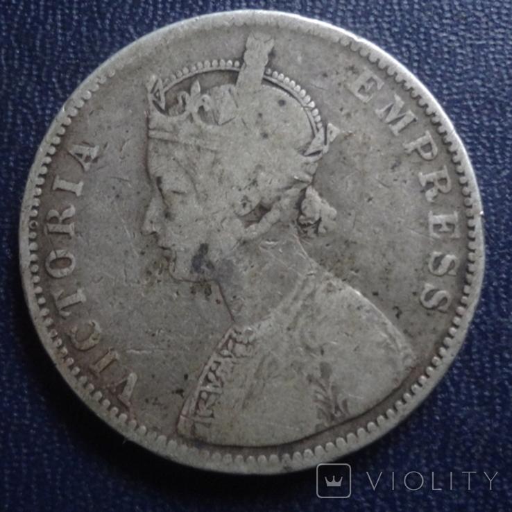 1 рупия 1877 Британская Индия серебро (1.2.35), фото №2