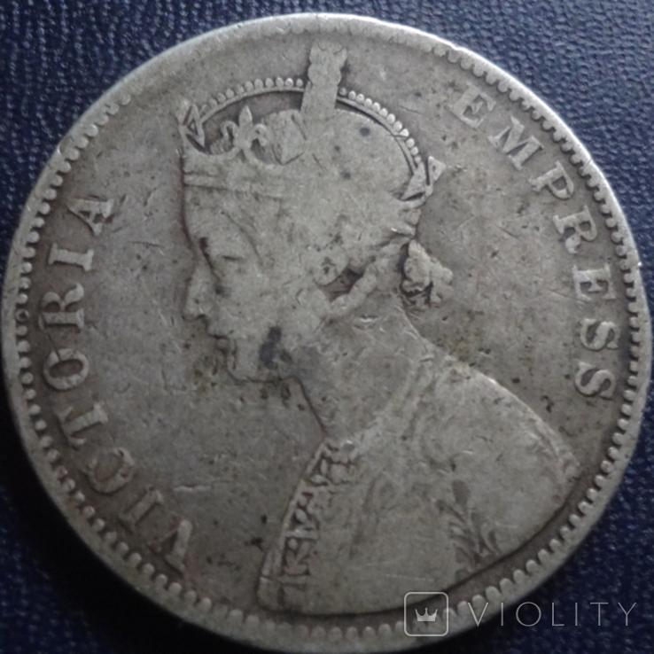 1 рупия 1877 Британская Индия серебро (1.2.35), фото №3