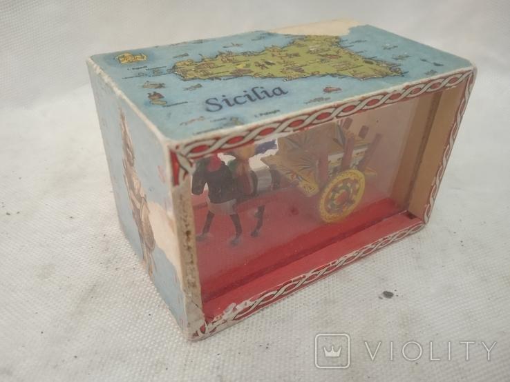 Сувенір Sicilia Palermo Сицилия конь с бричкой, фото №2