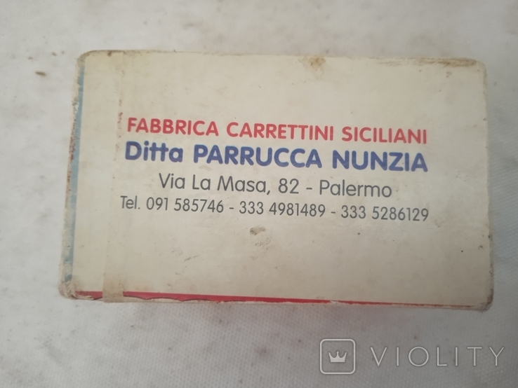 Сувенір Sicilia Palermo Сицилия конь с бричкой, фото №5