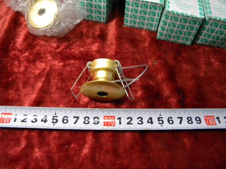 Точечный светильник 20 шт новые-золото, фото №7