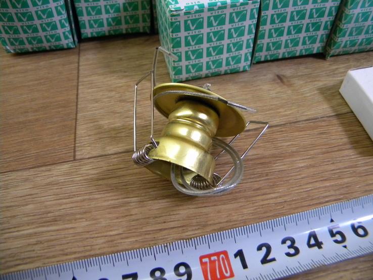 Точечный светильник 20 шт новые-золото, фото №9