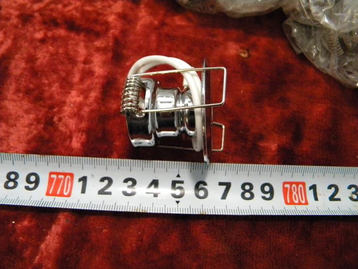 Точечный светильник 20 шт новые-серебро, фото №5