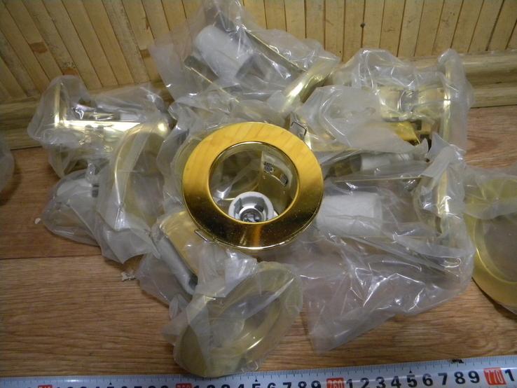 Светильники 20 штук новые.золото-патрон керамика., фото №5