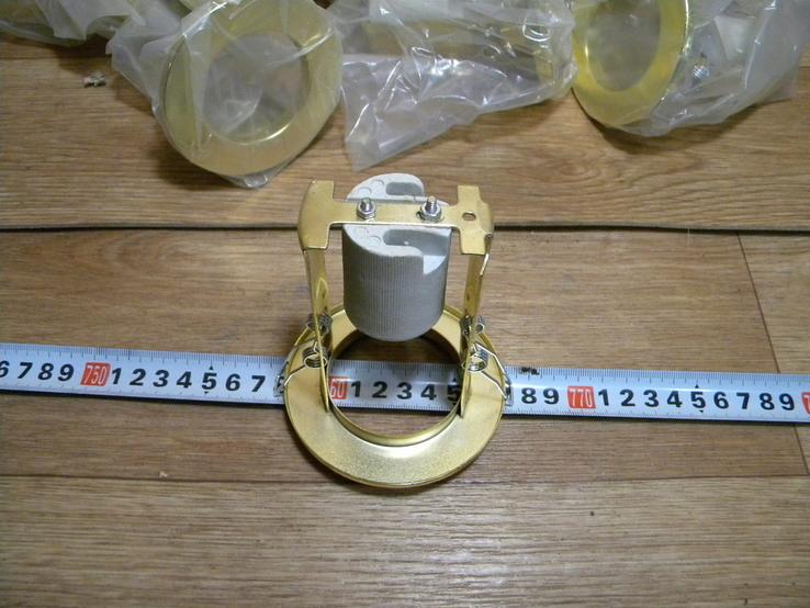 Светильники 20 штук новые.золото-патрон керамика., фото №9