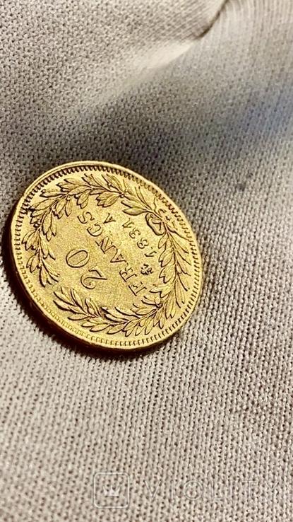 20 франков 1831 А Луи Филлип, фото №5