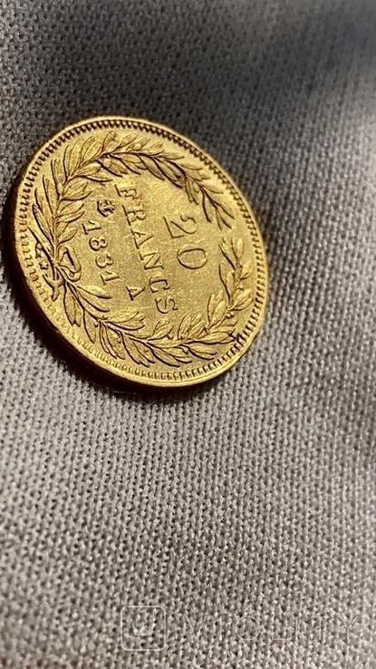 20 франков 1831 А Луи Филлип, фото №7