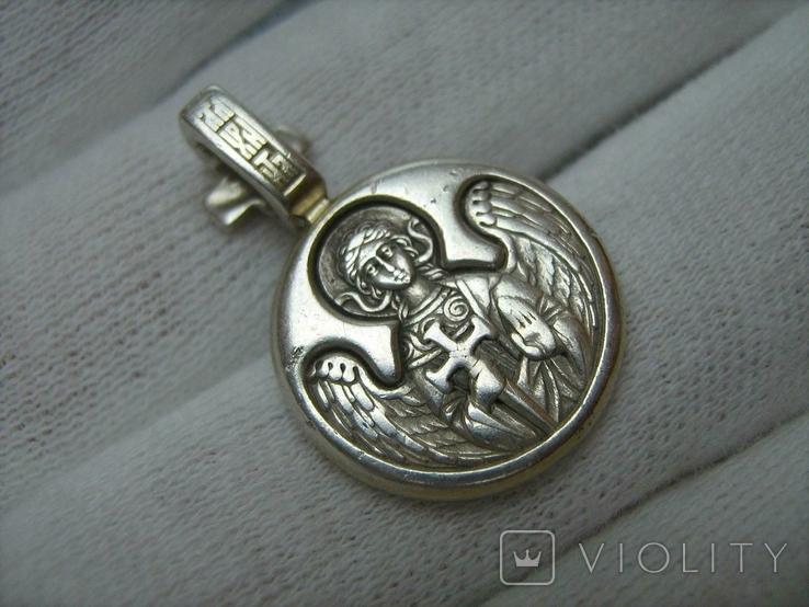 Серебряный Кулон Подвеска Святой князь Дмитрий Ангел Хранитель Серебро 925 проба 284, фото №3