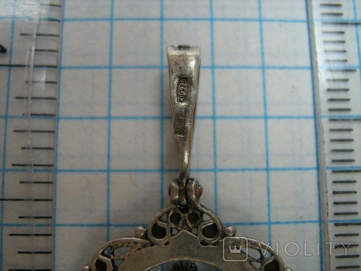 Серебряный Кулон Подвеска Святой Ангел Хранитель Скань Зернь Крылья Серебро 925 проба 283, фото №5