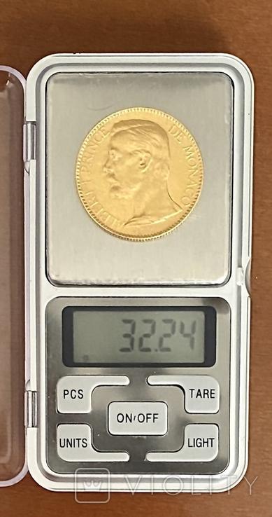 100 франков. 1901. Альберт I. Монако (золото 900, вес 32,24 г), фото №11