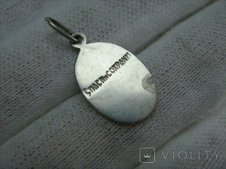Серебряный Кулон Подвеска Ладанка Святая Нина Равноапостольная Серебро 925 проба 750, фото №3