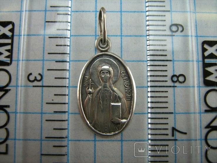 Серебряный Кулон Подвеска Ладанка Святая Нина Равноапостольная Серебро 925 проба 750, фото №4