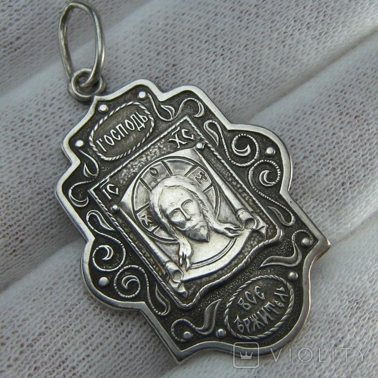 Серебряный Кулон Иисус Христос Господь Вседержитель Пантократор Всемогущий 925 проба 522, фото №2