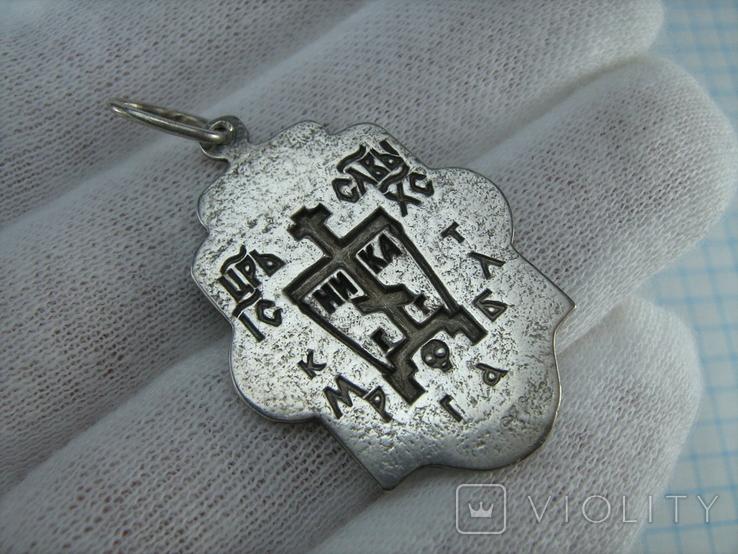 Серебряный Кулон Иисус Христос Господь Вседержитель Пантократор Всемогущий 925 проба 522, фото №3