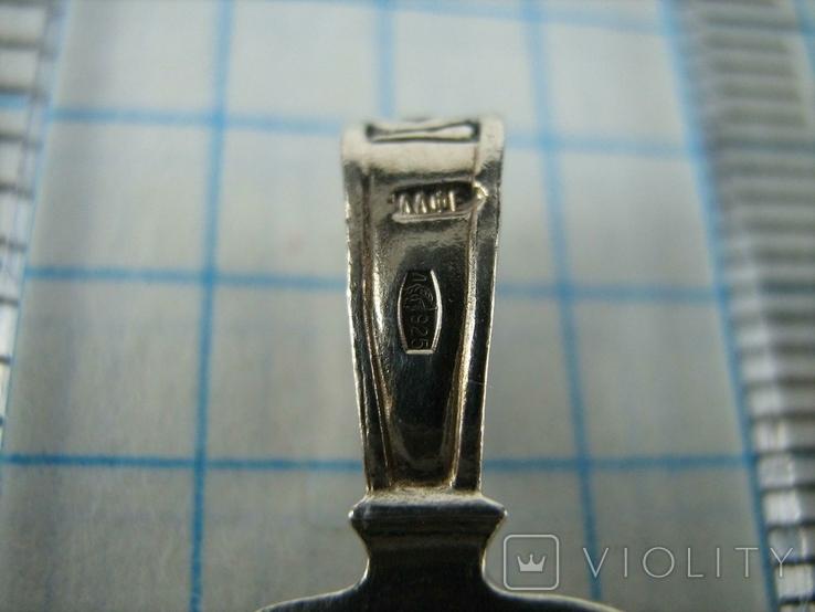 Серебряный Кулон Подвеска Святой Ангел Хранитель Крылья Серебро 925 проба 529, фото №5
