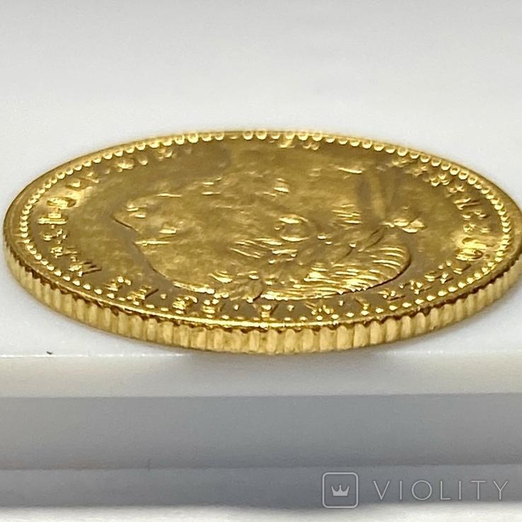 20 франков 8 форинтов. 1884. Франц Иосиф I. Австро-Венгрия (золото 900, вес 6,45 г), фото №7
