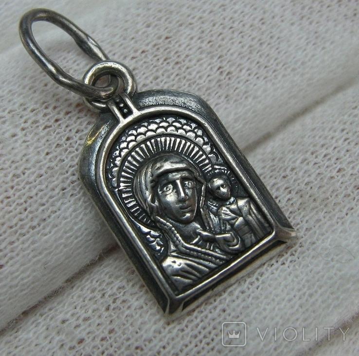 Серебряный Кулон Подвеска Образок Богородица Казанская Иисус Христос Серебро 925 проба 551, фото №2