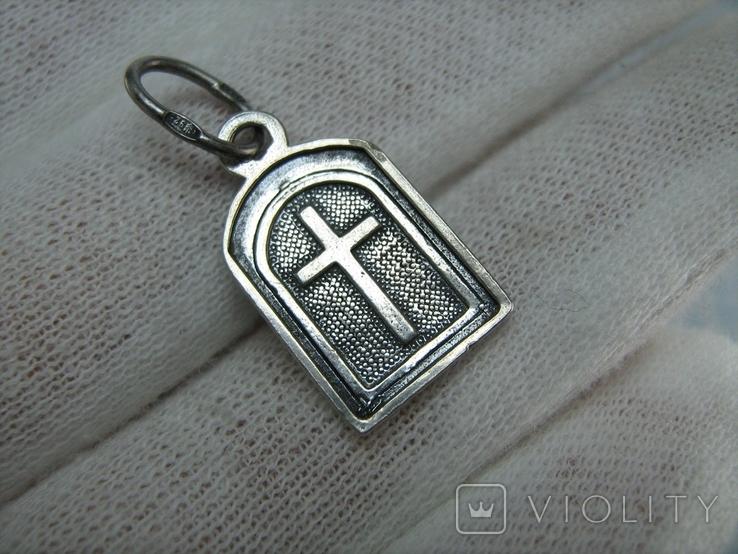 Серебряный Кулон Подвеска Образок Богородица Казанская Иисус Христос Серебро 925 проба 551, фото №3