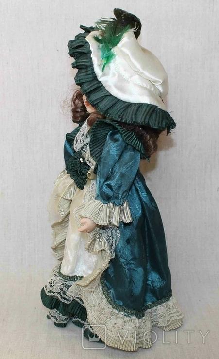 Винтажная фарфоровая кукла на подставке 41 см, фото №12