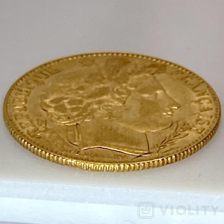 """10 франков. 1899. """"Революция"""" Франция (золото 900, вес 3,21 г), фото №5"""
