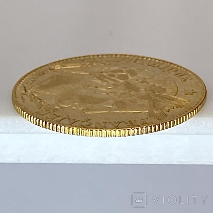 """10 франков. 1899. """"Революция"""" Франция (золото 900, вес 3,21 г), фото №7"""