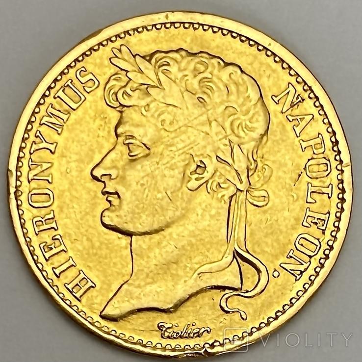 20 франков. 1809. Вестфалия. Германия (золото 900, вес 6,38 г), фото №5