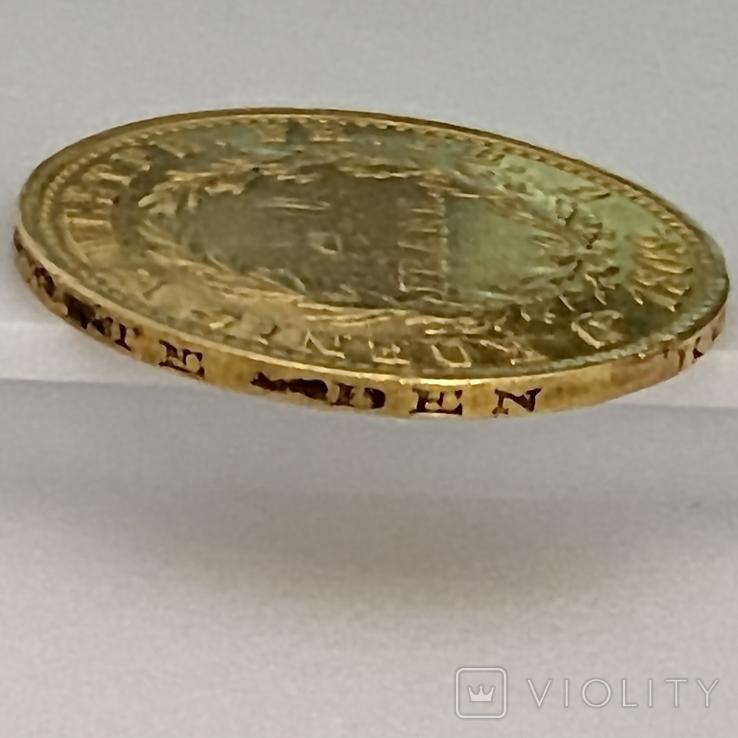 20 франков. 1809. Вестфалия. Германия (золото 900, вес 6,38 г), фото №8
