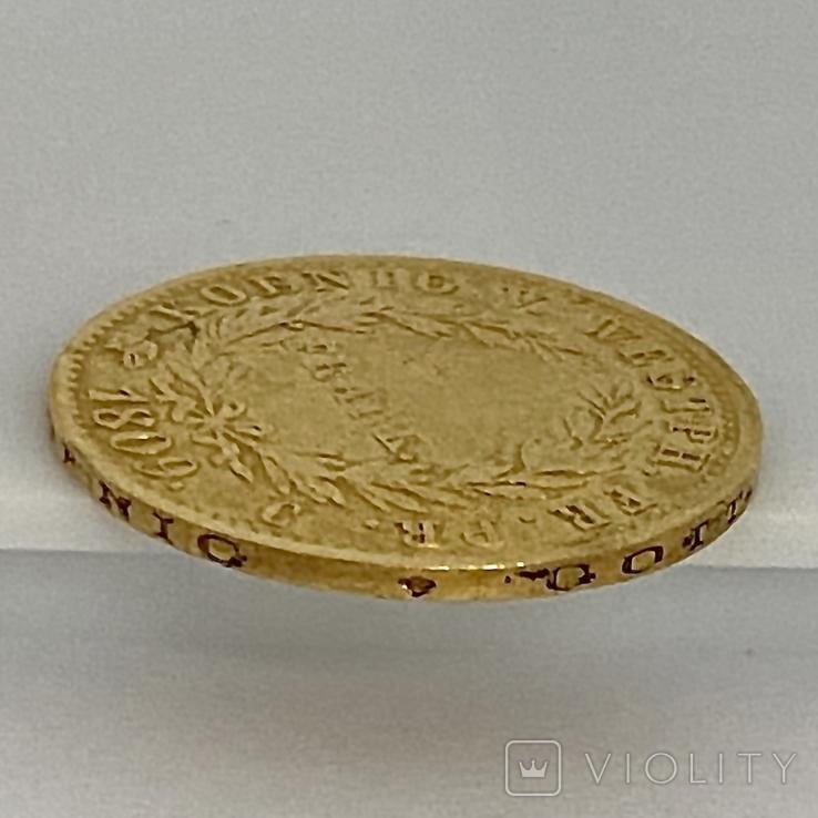 20 франков. 1809. Вестфалия. Германия (золото 900, вес 6,38 г), фото №9