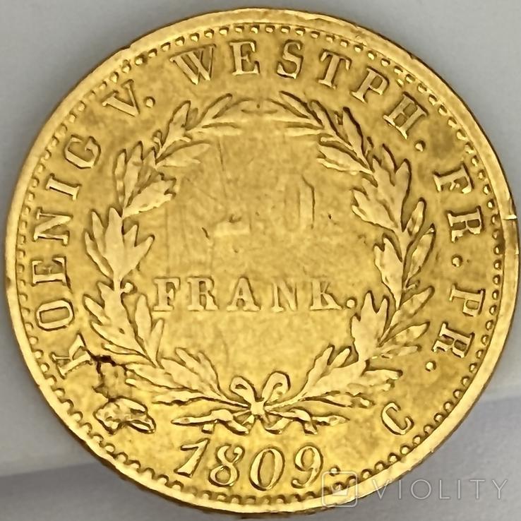 20 франков. 1809. Вестфалия. Германия (золото 900, вес 6,38 г), фото №10