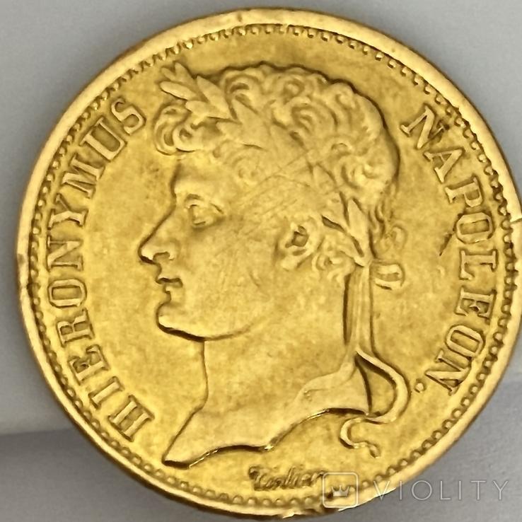 20 франков. 1809. Вестфалия. Германия (золото 900, вес 6,38 г), фото №11