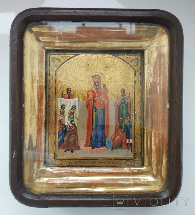 Икона всех скорбящих радость 11*13см., фото №2