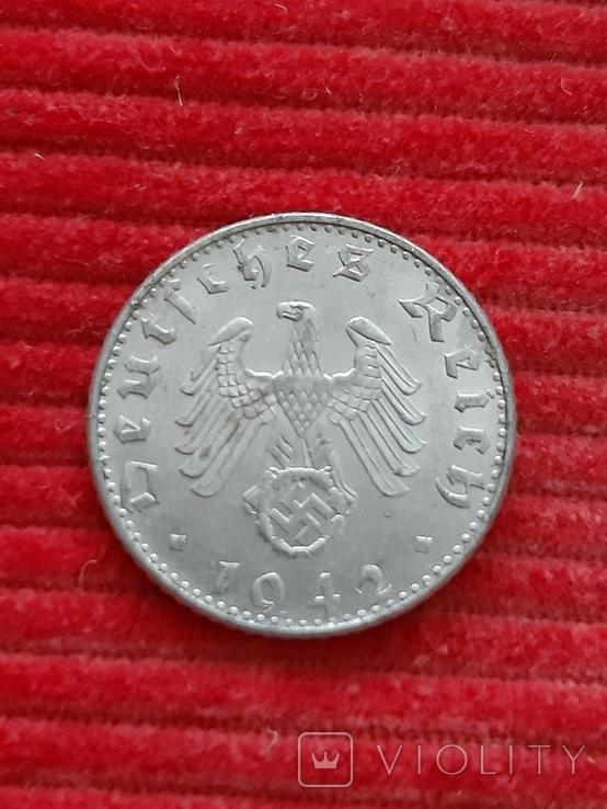 Германия 50 пфениг 1942 b, фото №3