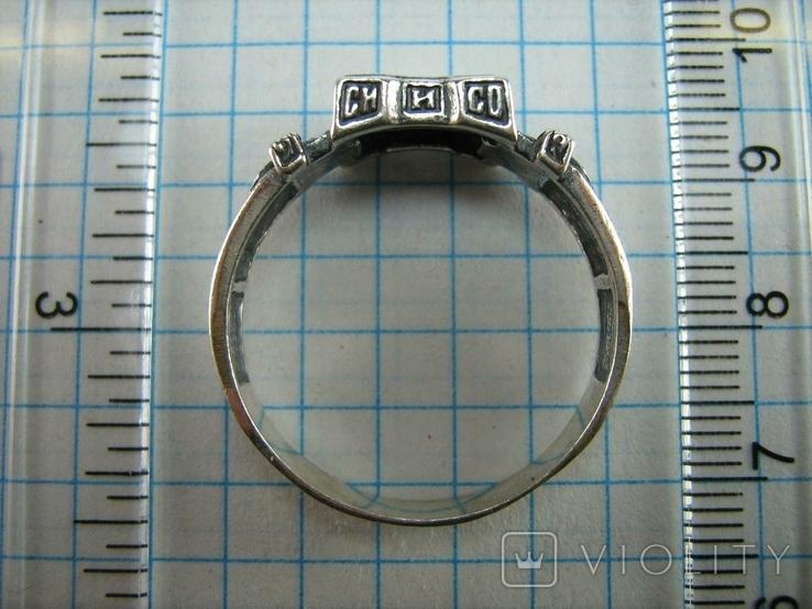 Серебряное Кольцо Перстень Размер 22.75 Мальтийский Крест Молитва 925 проба Серебро 513, фото №5