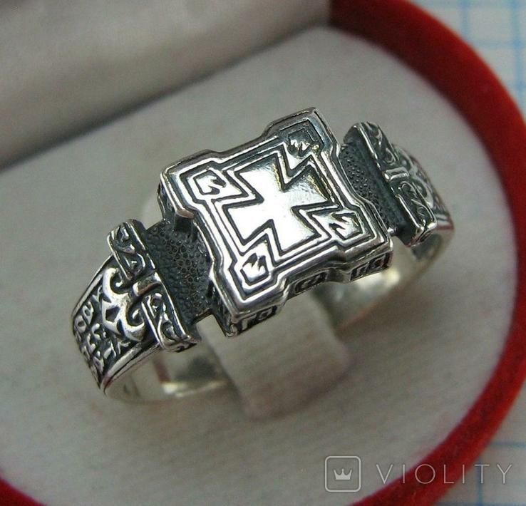 Новое Серебряное Кольцо Перстень Размер 23.0 Мальтийский Крест 925 проба Серебро 515, фото №2
