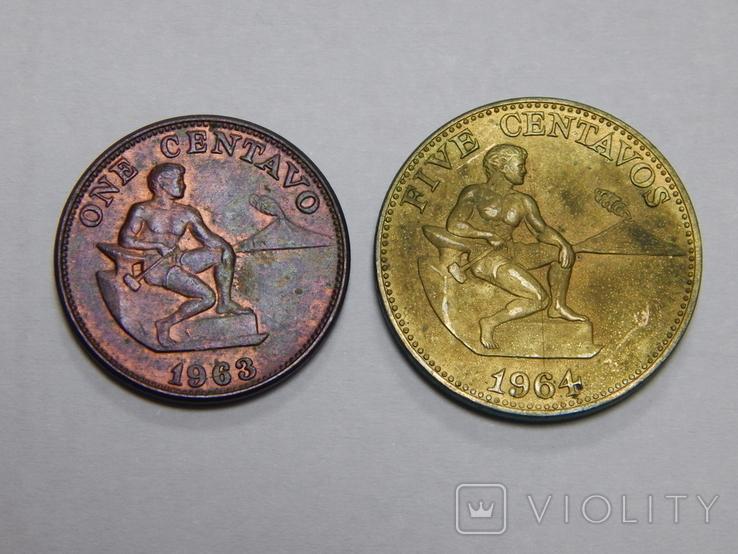 1 и 5 центов, Филиппины, фото №2