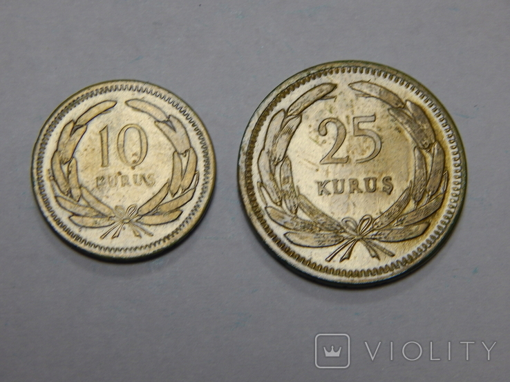 10 и 25 куруш, Турция, 1956 г, фото №2