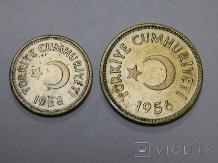 10 и 25 куруш, Турция, 1956 г, фото №3
