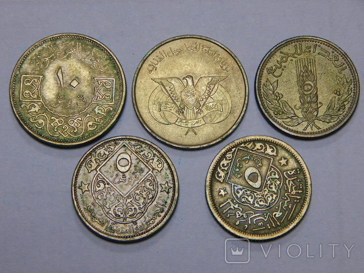 5 монет арабских стран, фото №2