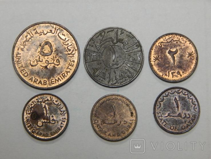 6 монет арабских стран, фото №2