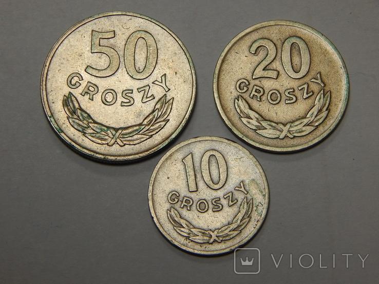 3 монеты Польши, 1949 г, фото №2