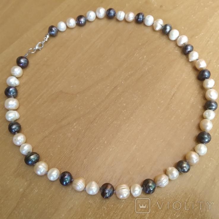 Намисто з перлин натуральних 58 см, фото №2