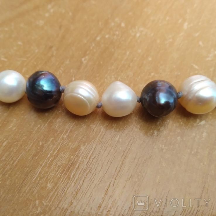 Намисто з перлин натуральних 58 см, фото №3