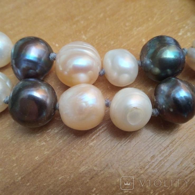Намисто з перлин натуральних 58 см, фото №10