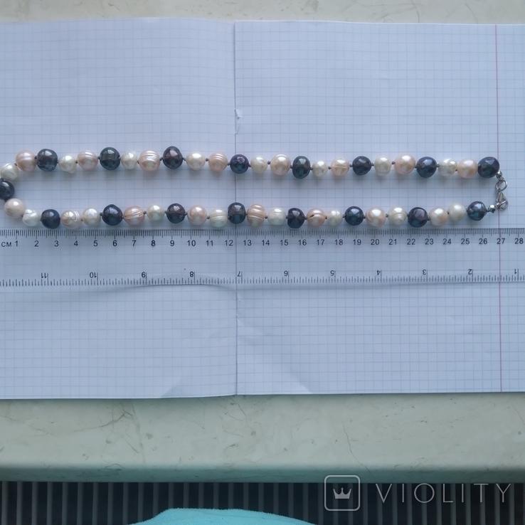 Намисто з перлин натуральних 58 см, фото №12