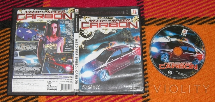 DVD PS2 NFS CARBON, фото №2