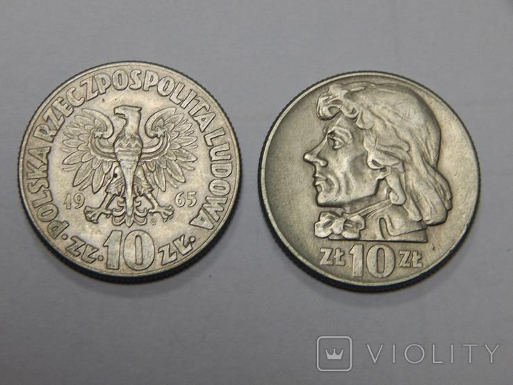 2 монеты по 10 злотых, Польша, фото №2